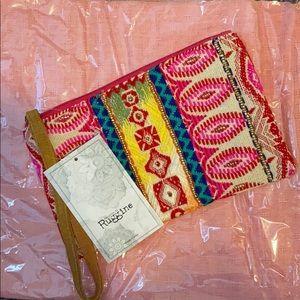Multicolored Wristlet Bag